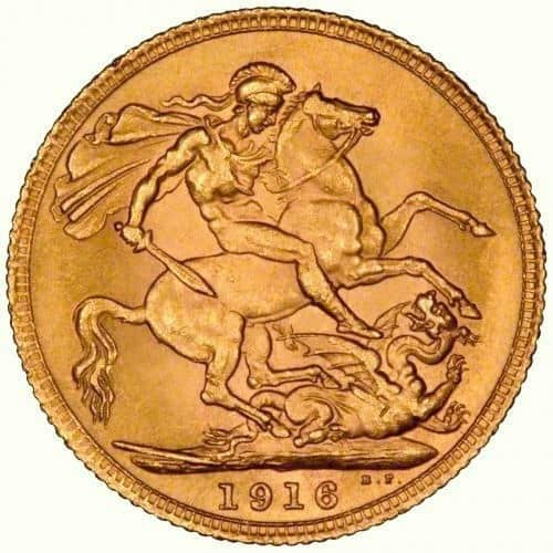 1916 C-Gold Sovereign
