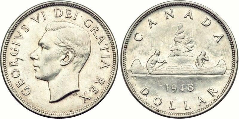 1948 Canada Silver Dollar